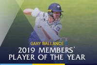 Gary Ballance wins Members' Player of the Year award for 2019