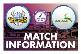Match Day Information: Yorkshire Vikings v Notts Outlaws