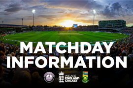 Matchday Information: England v South Africa