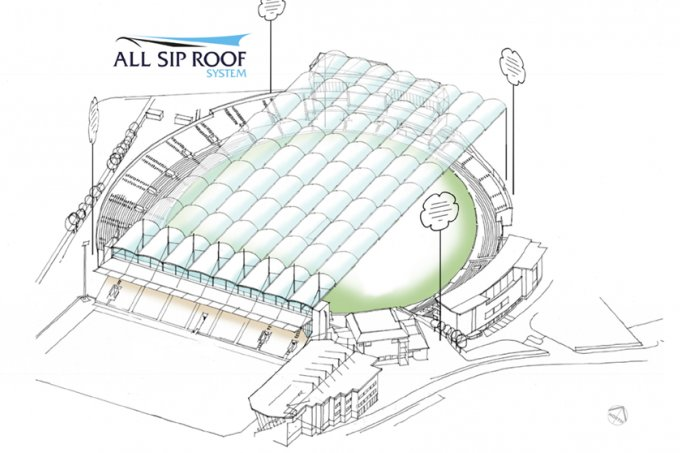 Retractable All Sip Roof Set For Headingley Cricket Ground